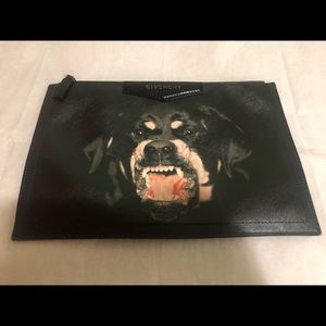 2fe04445d5 Givenchy Bags - Givenchy Rottweiler dog face clutch